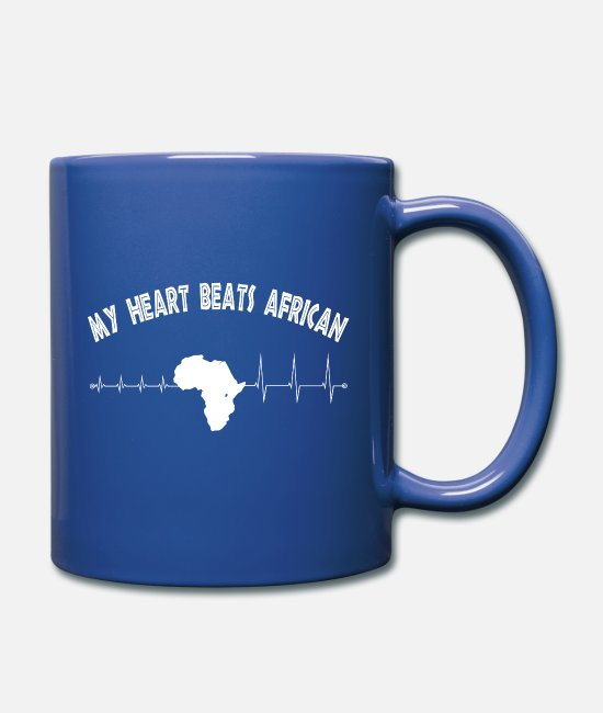 Heart Rate Mugs & Drinkware - T-shirt Africa - I love Africa - Mug royal blue