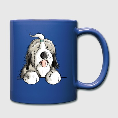 Feliz Collie barbudo - Taza de un color