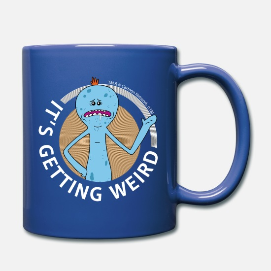Geek Mugs & Drinkware - Rick And Morty Mr Meeseeks It's Getting Weird Mug - Mug royal blue