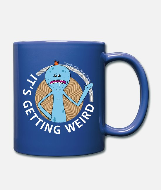 Witzig Tassen & Becher - Rick And Morty Mr Meeseeks It's Getting Weird Tass - Tasse Royalblau