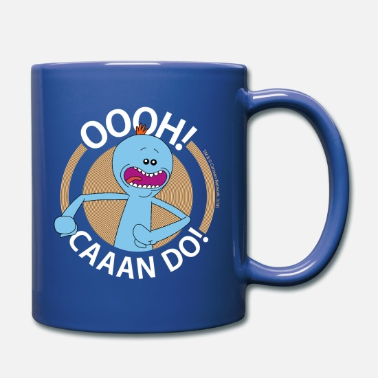 Animal Mugs & Drinkware - Rick And Morty Mr Meeseeks Oooh Caaan Do Mug - Mug royal blue