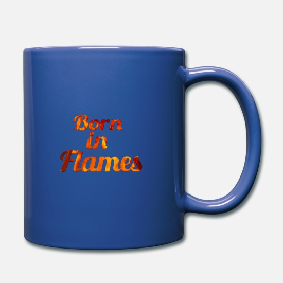 Blaze Mugs & Drinkware - born in flames - Mug royal blue