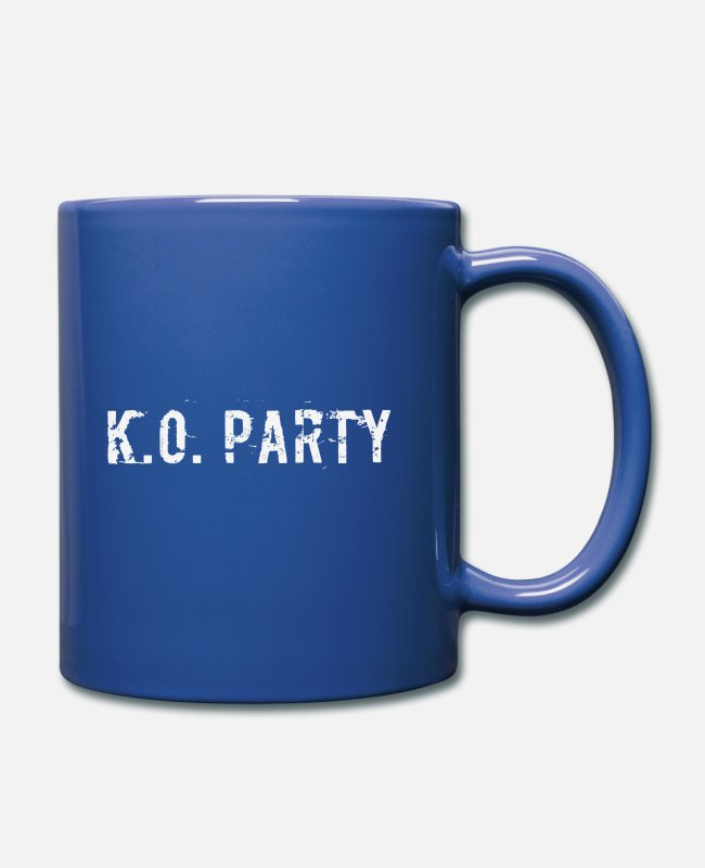 Mma Mugs & Drinkware - KO party - Mug royal blue
