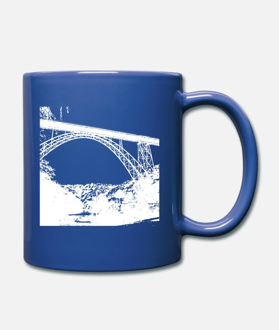 EU Mugs & Drinkware - Bridge - Müngstner Bridge - Bergisches Land - Mug royal blue