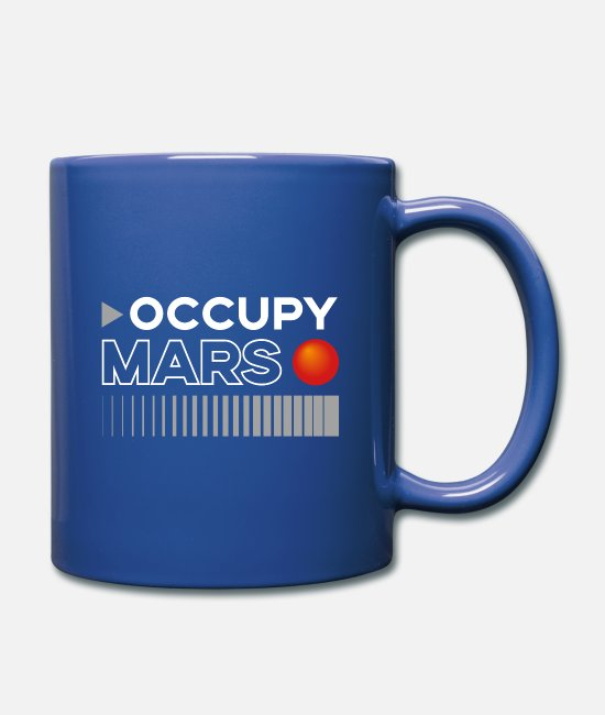 Space Mugs et tasses - Occupy Mars - Mug bleu royal