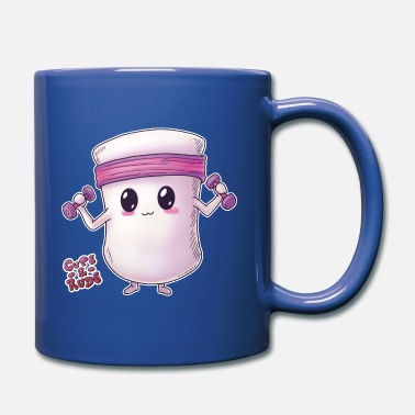 Cute Fitness Fitness marshmallow - cute and rude - Mug