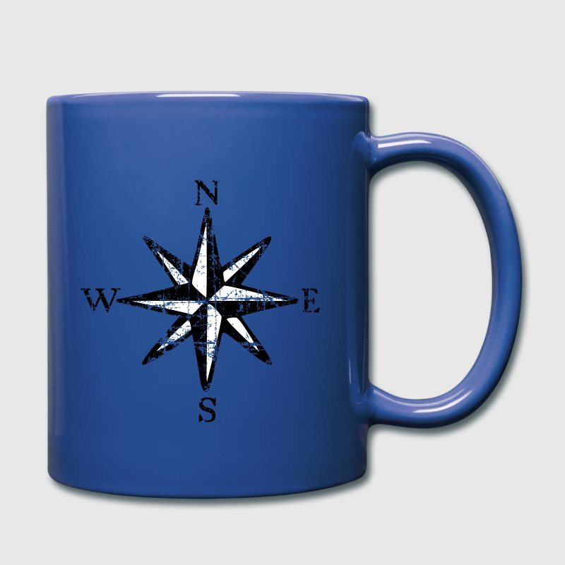 Compass Rose NESW Vintage Sailing Design (PL) - Kubek jednokolorowy