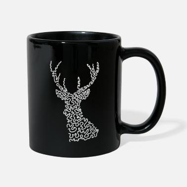 Stylish Geschenkidee Hirsch Abstrakt Cool Stylish Trendy - Tasse