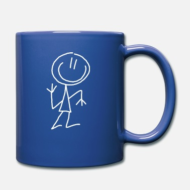 Stick Man Slim man stick figure - Full Colour Mug