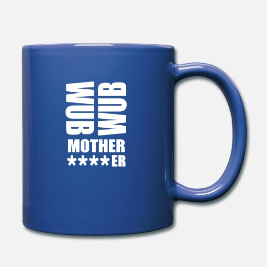 Raven Mugs & Drinkware - wub wub mother rave logo - Mug royal blue