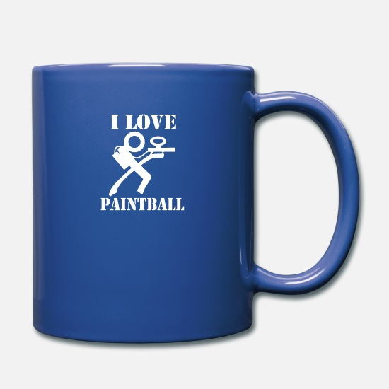 Gotcha Tassen & Becher - I Love Paintball - Tasse Royalblau