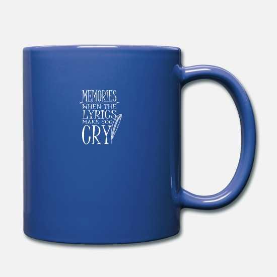 Song Mugs & Drinkware - Music Lyrics Lyrics Songs Band Songs - Mug royal blue