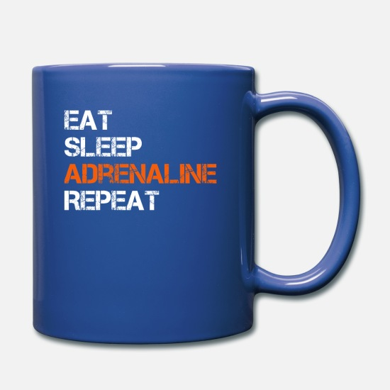 Parachute Mugs & Drinkware - Eat Sleep Adrenaline Repeat T-Shirt - Mug royal blue