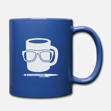 Stift Geek fueled by Coffee tasse Brille Stift T-Shirt - Tasse