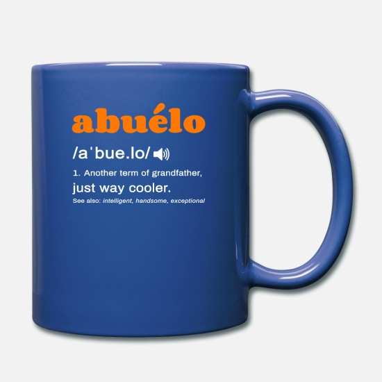 Definition Mugs & Drinkware - abuelo definition grandmother definition - Mug royal blue