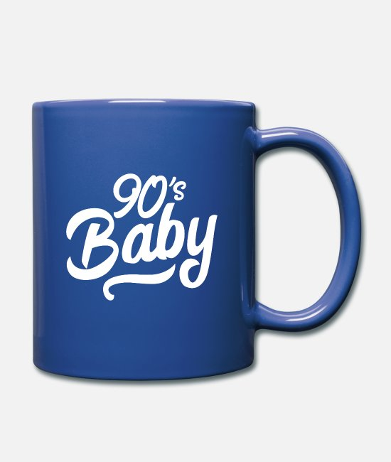 Nineties Mugs & Drinkware - 90s baby hand lettering - Mug royal blue