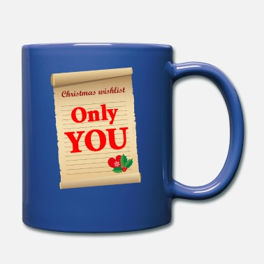 Firm Of Love At Christmas just you | Proof of love on piece of paper - Mug