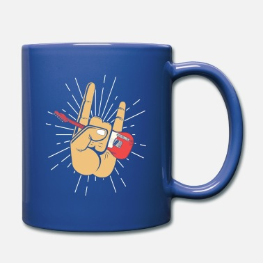 Diable Heavy Metal Devil Horns, guitare électrique - Mug