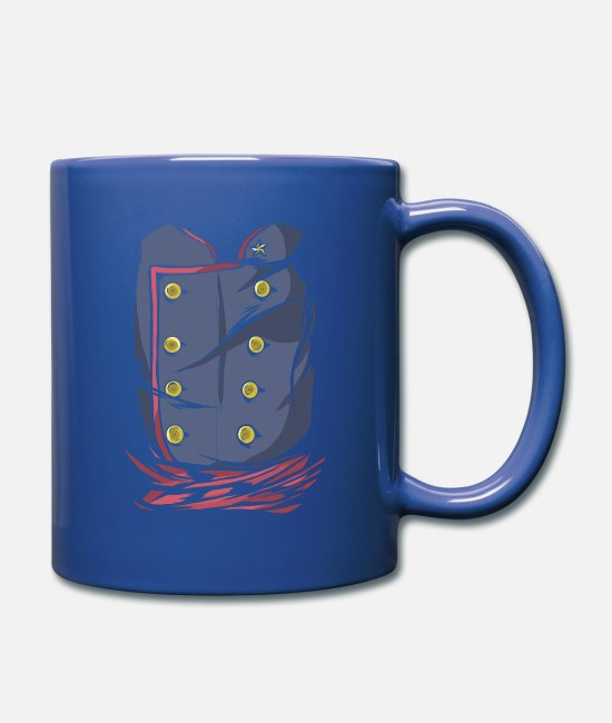 Carnival Mugs & Drinkware - Carnival costume uniform military vintage - Mug royal blue