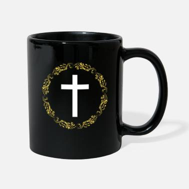 Cristiano Related To Christ Fancy Gold Cross Faith - Taza