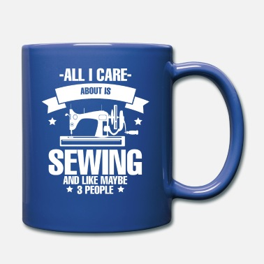 Wool All I Care About Is Sewing seamstress Scheiderin - Mug