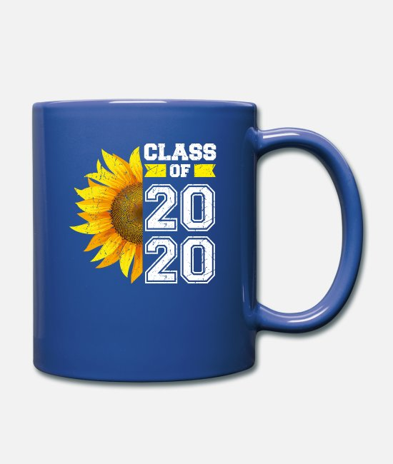 Margarita Tazas y accesorios - Clase de 2020 High School Graduation Senior Sunflo - Taza azul royal