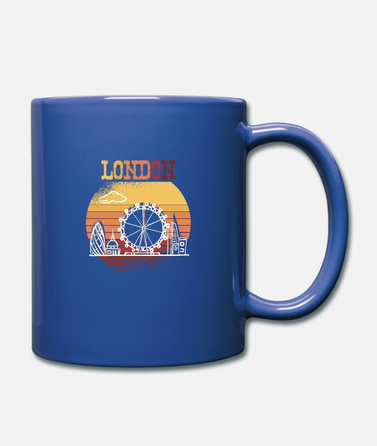 London Attractions Mugs & Drinkware - London Attractions - Mug royal blue