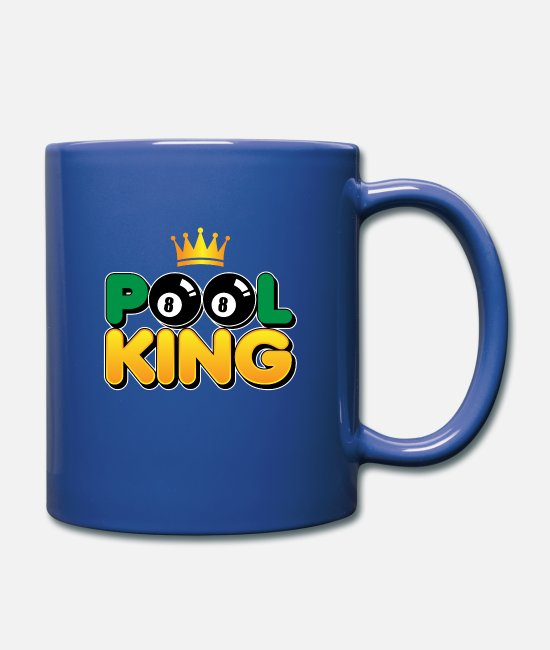 Koe Mugs et tasses - Pool King - billard de piscine - Mug bleu royal