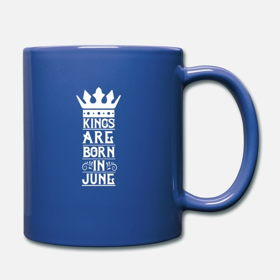 Félicitations Mugs et récipients - Kings are born in June white - Mug bleu royal