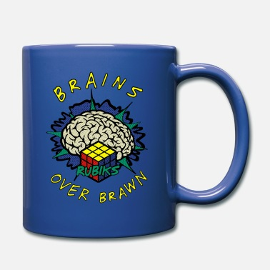 Rubik's Cube Brains Over Brawn - Mug