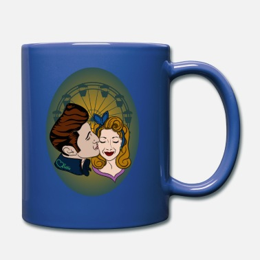 Love Collection Rockabilly-Couple at Ferris Wheel - Full Colour Mug