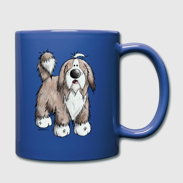Collie Der Bearded Collie - Tasse einfarbig