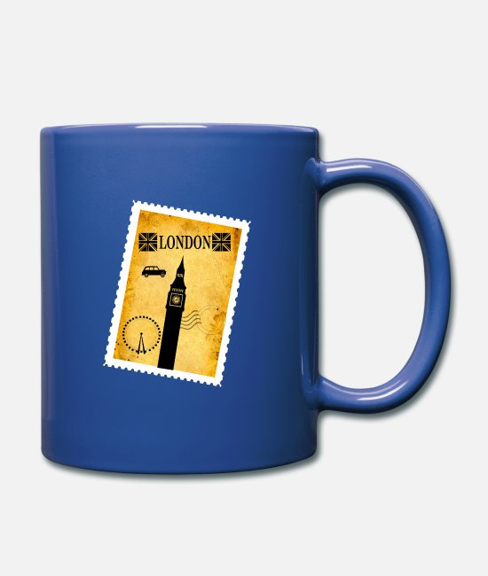Big Ben Mugs & Drinkware - London stamp - Mug royal blue