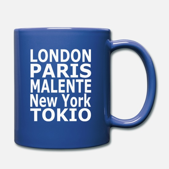 Plattdeutsch Tazze & Accessori - World City Malente - Tazza blu royal