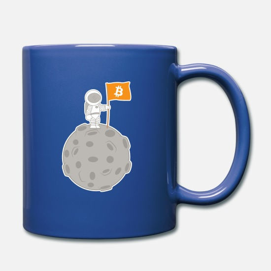 Gift Idea Mugs & Drinkware - Bitcoin To The Moon - Cash Cash Gaming Blockchain - Mug royal blue