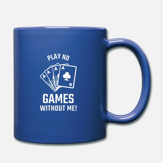 Vegas Mugs & Drinkware - Poker Gift Card Game Poker Rummy Canasta - Mug royal blue