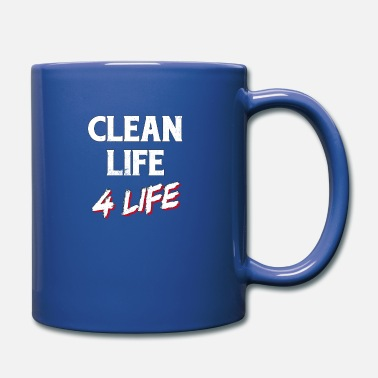 Addiction Recovery Clean Life 4 Life Sober Sobriety 1 Year Recovery - Mug