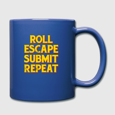 Jiujitsu Roll Escape Submit Repeat BJJ JiuJitsu MMA - Full Colour Mug