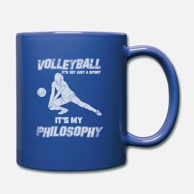 Draguer Sport de drague de volleyball avec philosophie - Mug uni