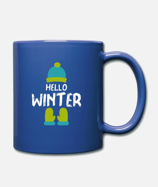 Graphic Art Mugs & Drinkware - Winter cap gloves - Mug royal blue