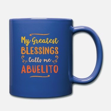 Pay Blessed Abuelo Puerto Rico Grandpa Fathers Day - Full Colour Mug