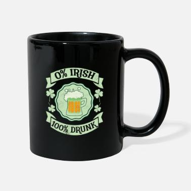 St Patrick's Day 0% Irish 100% Drunk Distressed - Mug