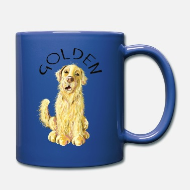 Golden Netter Golden Retriever - Goldie - Golden - Comic  - Tasse einfarbig