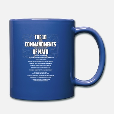 Maths Les 10 commandements du cadeau de maths - Mug uni