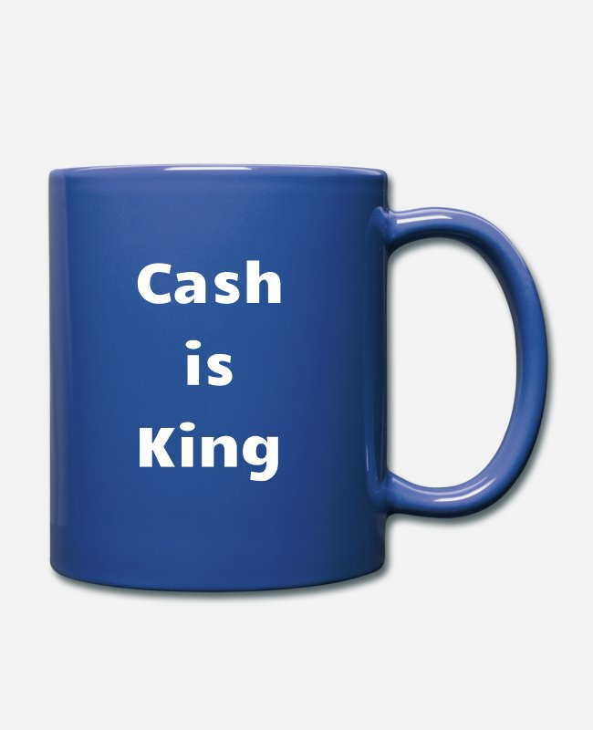 Esittää Mukit ja kupit - Cash on King Gift Idea Capitalist - Muki royal sininen