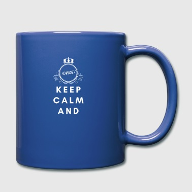Calm The Fuck Down Keep calm and snus Tobacco Present Nicotine - Full Colour Mug
