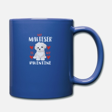 Beady Eyes Sweet Maltese White Puppy for Valentine's Day - Mug