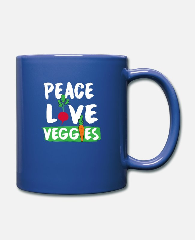 Carrot Mugs & Drinkware - vegetables peace - Mug royal blue