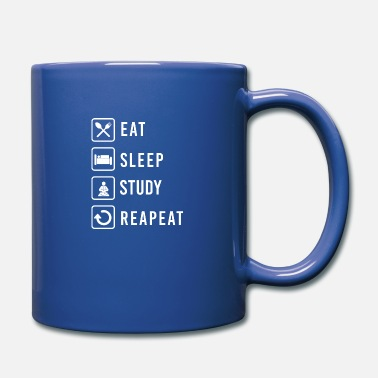 Father And Son Eat Sleep Study Repeat School Children Gift Idea - Mug