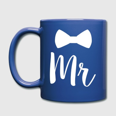 Newlyweds Mr Bowtie For Husbands - Full Colour Mug